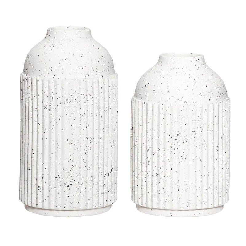 Hubsch - Set of two ceramic decorative vases