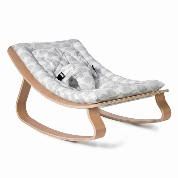 Charlie Crane - Levo Baby Rocker Beech with Moumout Cloud Cushion