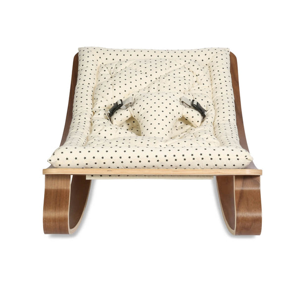 Charlie Crane - Levo Baby Rocker Walnut with Bonton cushion