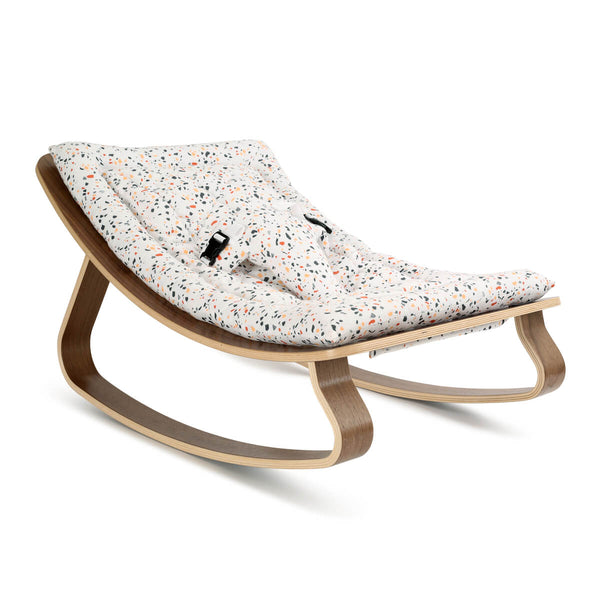Charlie Crane - Levo Baby Rocker Walnut with Terrazzo cushion