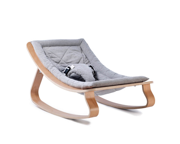Charlie Crane - Levo Baby Rocker Walnut with Sweet Grey cushion