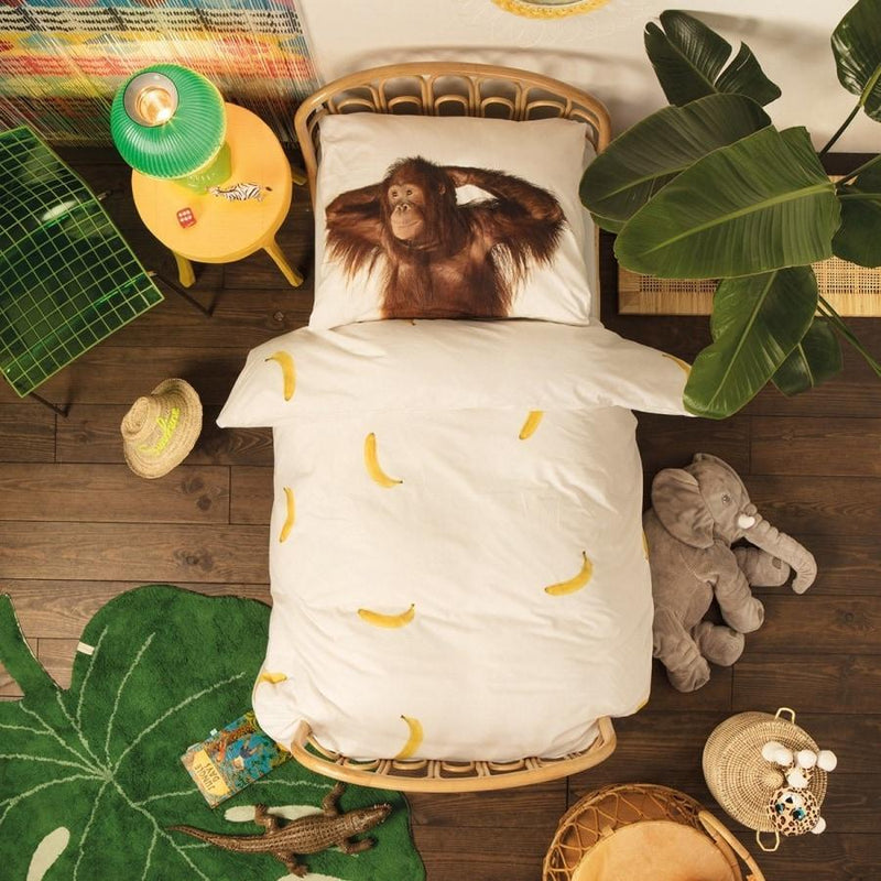 Kids Room | Snurk | Quilt cover set Banana monkey | Home Decor