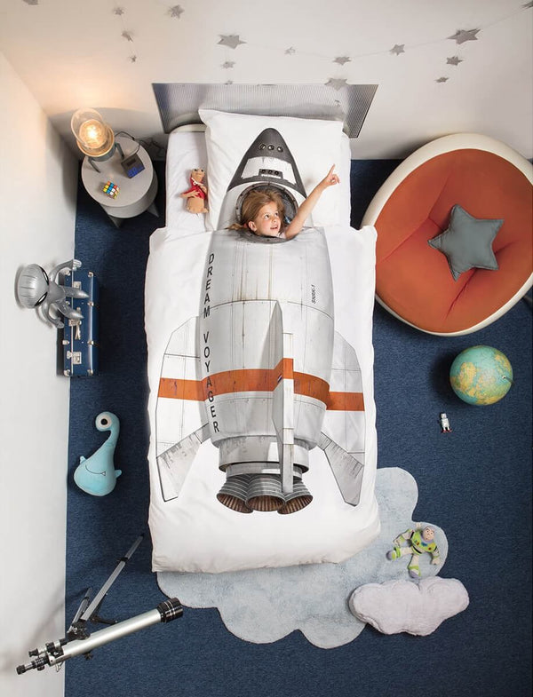 Snurk - Quilt cover set Rocket