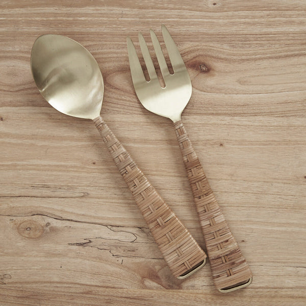 Inartisan - Iris Rattan Salad Servers