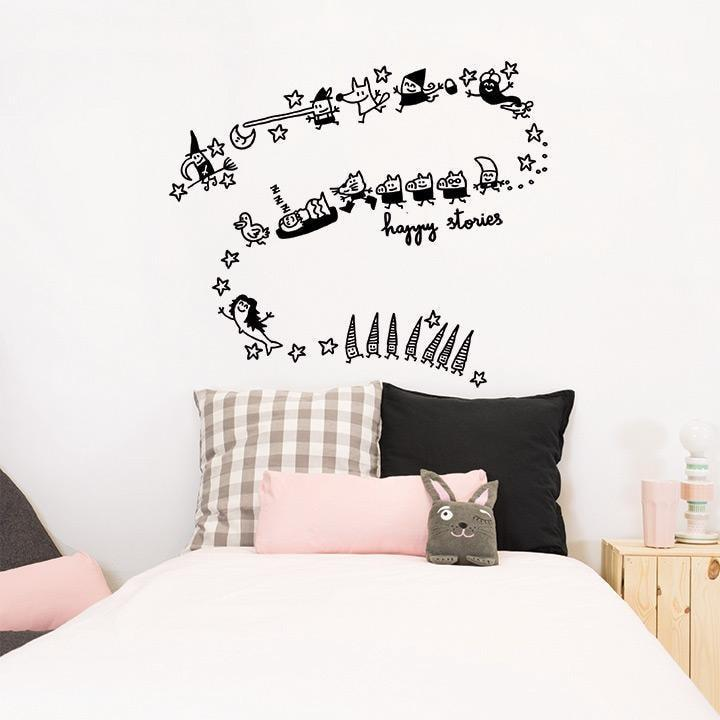 Wall Stickers Nursery | Chispum | Happy stories wall sticker