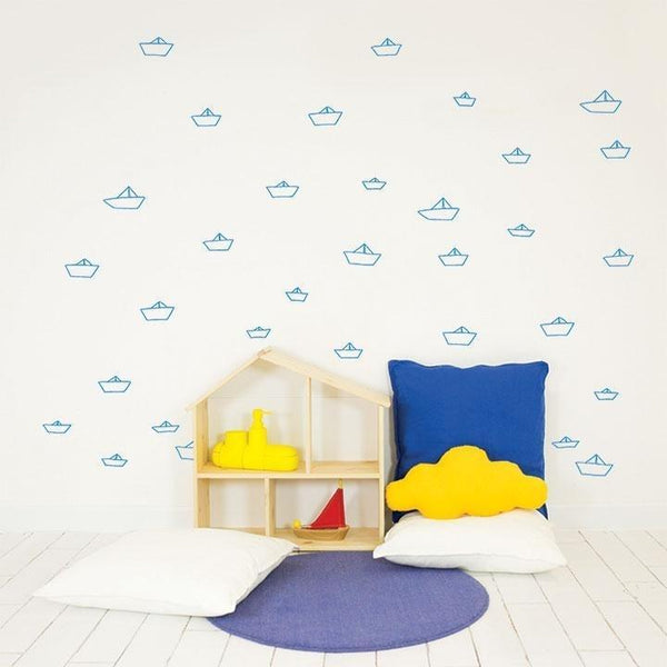 Wall Stickers Nursery | Chispum | Little Ships Wall Sticker