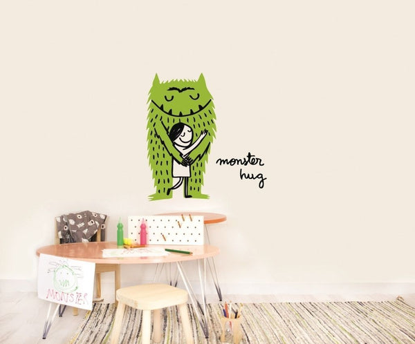 Wall Stickers Nursery | Chispum | Monster Hug wall sticker