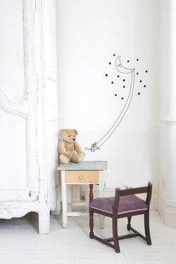Wall Stickers Nursery | Chispum | Moon swing wall sticker