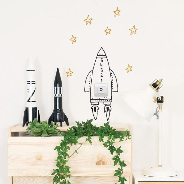 Wall Stickers Nursery | Chispum | Switch Rocket Wall Sticker