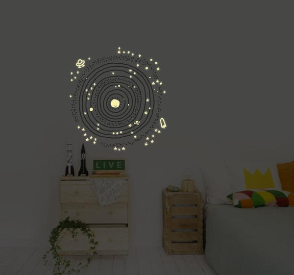 Wall Stickers Nursery | Chispum | Cosmos glow in the dark wall sticker