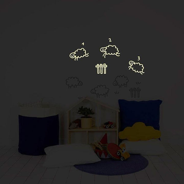 Wall Stickers for Kids | Chispum | Counting sheep glow in the dark