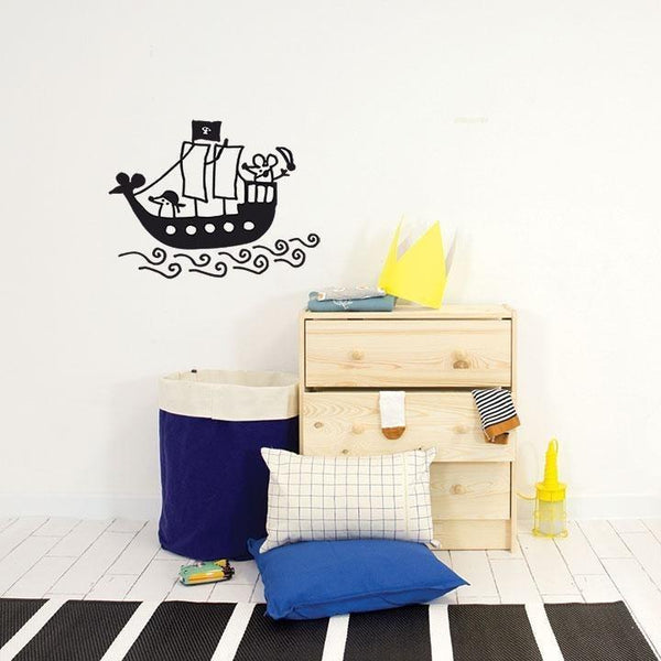 Wall Stickers for Kids | Chispum | Pirate ship wall sticker