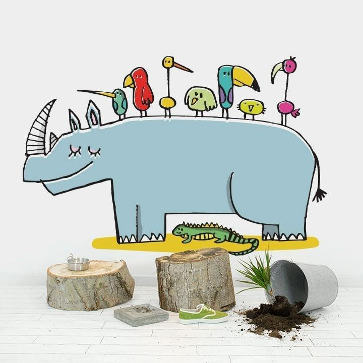 Wall Stickers for Kids | Chispum | Rhino wall sticker