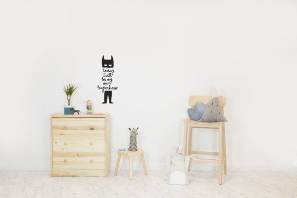 Wall Stickers for Kids | Chispum | Today I will be my own superhero wall sticker