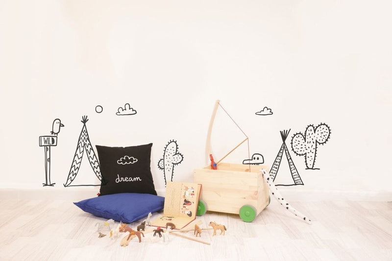 Wall Stickers for Kids | Chispum | Play far west wall sticker