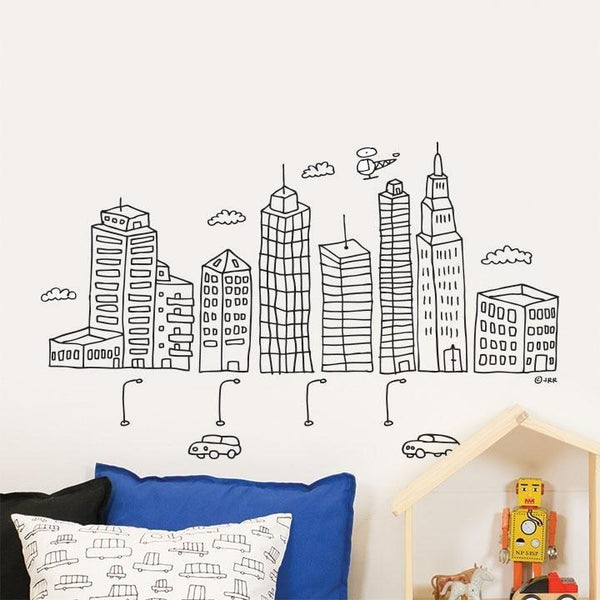 Wall Stickers for Kids | Chispum | Big City Skyscrapers Wall Sticker