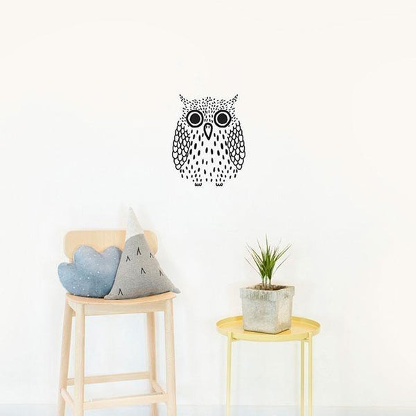 Wall Stickers for Kids | Chispum | Big Owl Glow in the Dark
