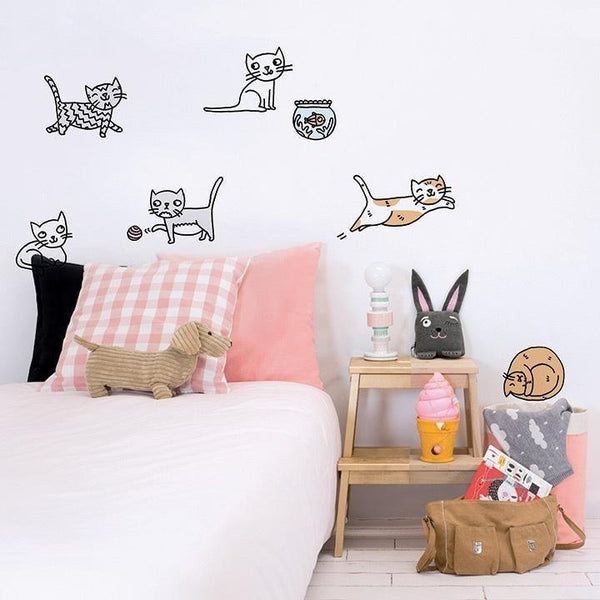 Wall Stickers for Kids | Chispum | Cats by Eva Mouton
