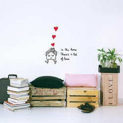 Wall Stickers for Kids | Chispum | In this house there is lot of love