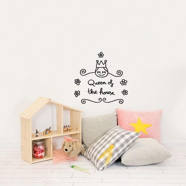 Wall Stickers Nursery | Chispum | Queen of the House Wall Sticker
