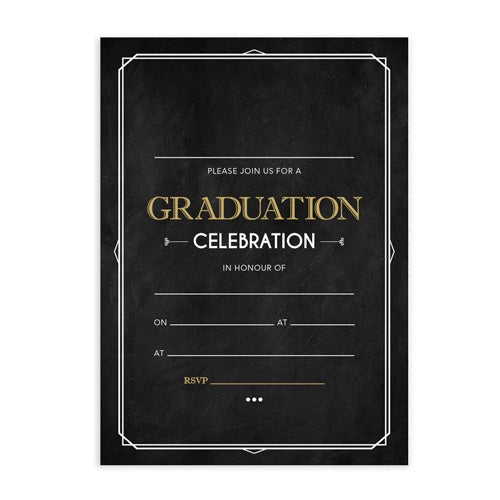 Invitation Fill-in - Graduation Dark Background