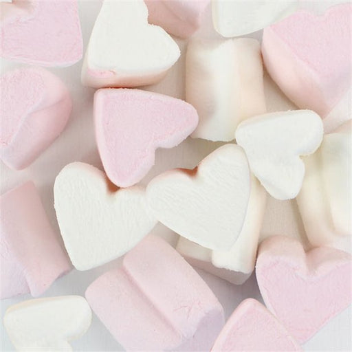 Pink & White Marshmallow Hearts -