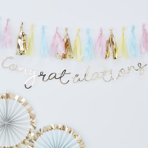 Gold Congratulations Bunting - Pick & Mix