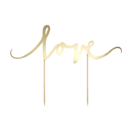 Cake Topper - Love - Gold