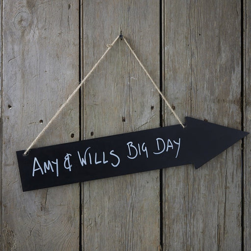 Chalkboard Arrow Wooden - Vintage Affair