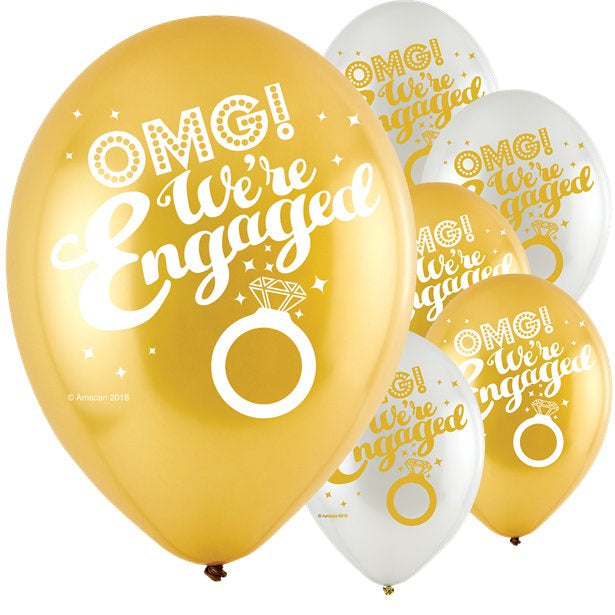 Balloons Latex - OMG Engagement - 6pk
