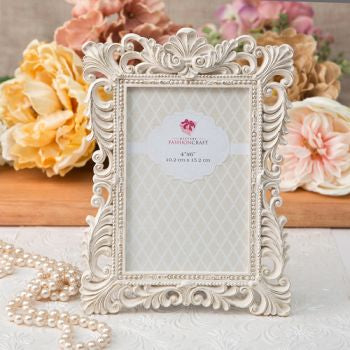 Antique Ivory Frame With Brushed Gold Leaf