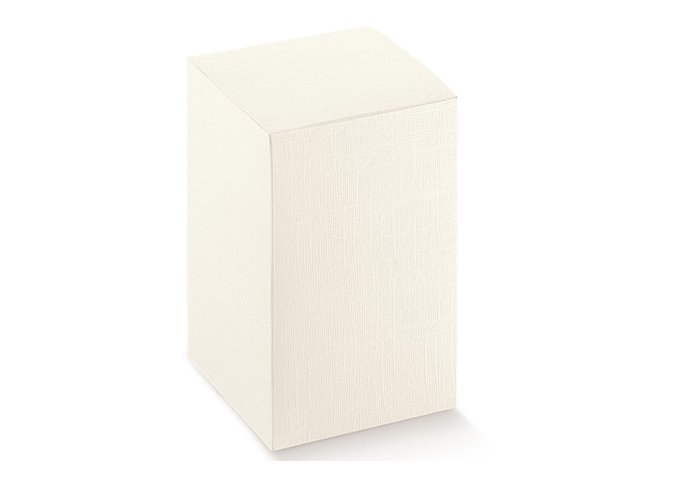 Box - White Satin - 80X80X110mm