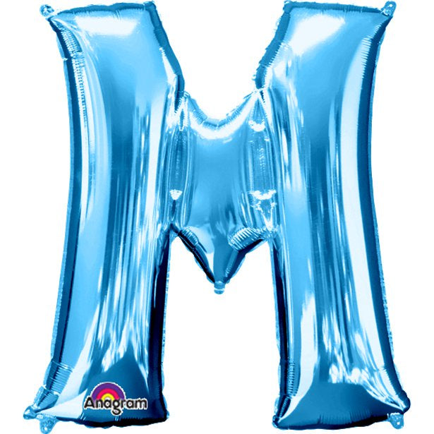 Balloon Foil Letter Shape - M Blue - 34''