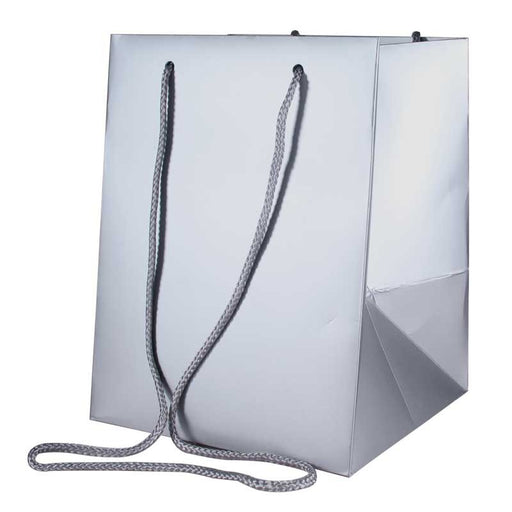 Metallic Silver Hand Tie Bag (19X25Cm)