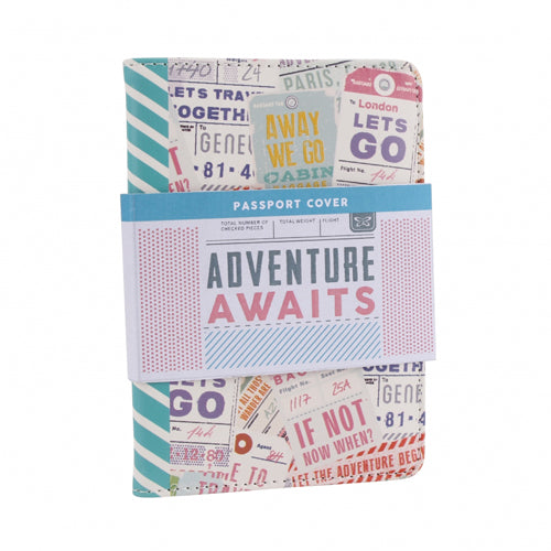Adventure Await's - Passport Cover