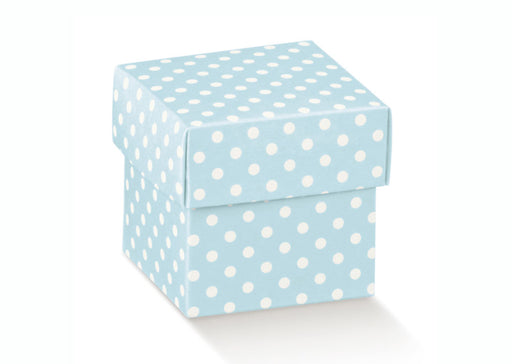 Box w/Lid - Blue w/ White Spots - 50X50X50mm