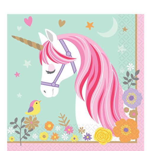 Lunch Napkins - Magical Unicorn - 16pk