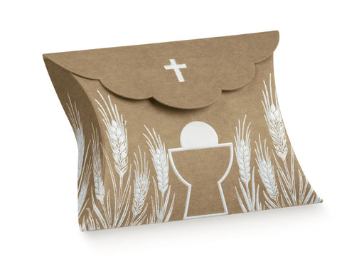 Pillow Box - Cross & Chalice - Kraft 80X85X30