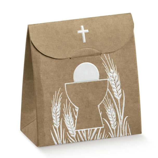 Box - Cross & Chalice - Kraft 70X35X80