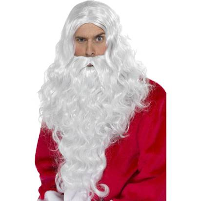 Santa Long White Wig & Beard