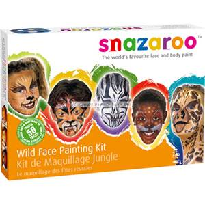 Snazaroo Wild Face Paint Kit - 50 Faces