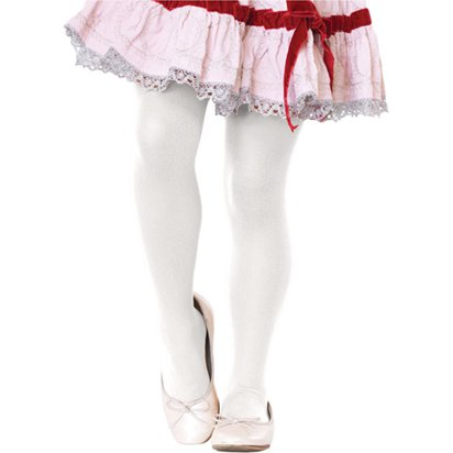 Childrens Tights - White - Age 4-6