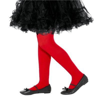Childrens Tights - Red - Age 7-10