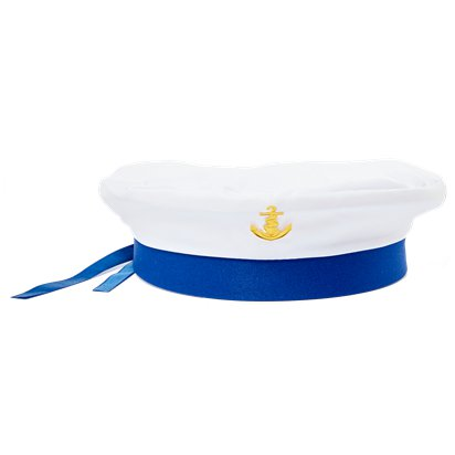 Sailor Hat with Blue Ribbon