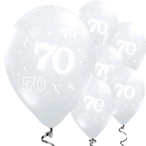 70th Birthday Diamond Clear Balloons - 11'' Latex