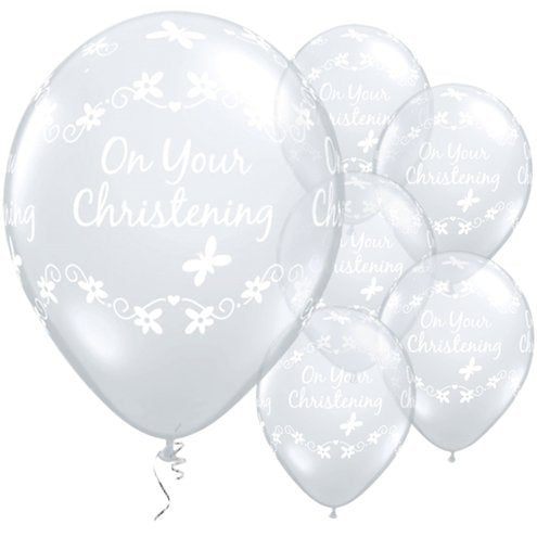 Balloons Latex - Diamond Clear - On Your Christening Butterflies