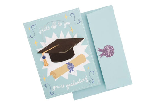 Hats Off To You , You'Re Graduating - Card & Hanger