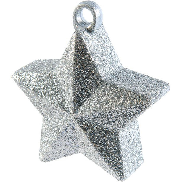 Balloon Weights - Star Silver Glitter