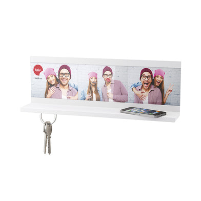 Shelf & Key Holder - Shelfie - White