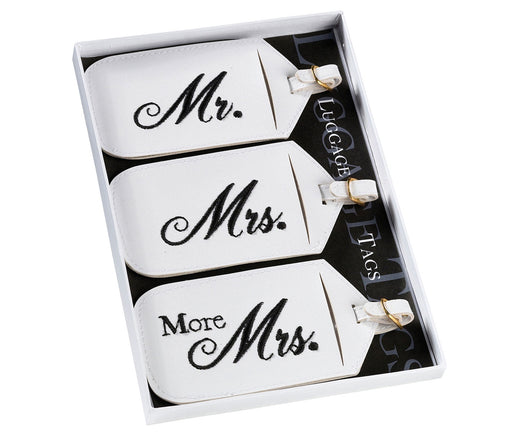 Luggage Tags - Set of 3 Mr., Mrs. and More Mrs.
